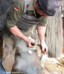 A farrier at work